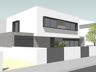 Moradia Oriental: Casas unifamilares  por Diogo Assunção Arquitecto,Moderno