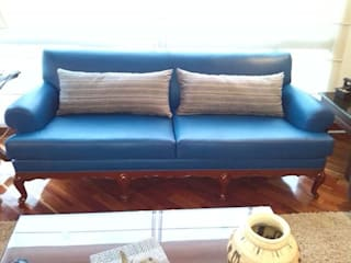KAYROS ARQUITECTURA DISEÑO INTERIOR Living roomSofas & armchairs Blue