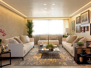 Apto. MA - Alto da Lapa Célia Orlandi por Ato em Arte Salas de estar modernas