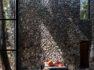 Rustik Oturma Odası Saavedra Arquitectos Rustik Taş