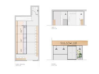 Salad Lab AA Arquitectura y Paisaje Comedores de estilo escandinavo