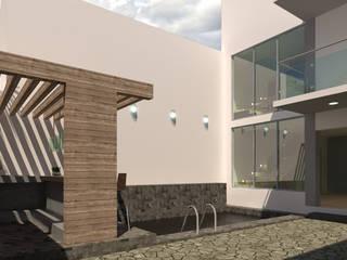 Terraza Escobedo: Albercas de estilo  por PV Arquitectura,
