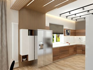 Гостиная кухня в коттедже под Екатеринбургом. Гостиная в стиле минимализм от Концепт Мастер Минимализм