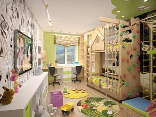"""Дизайн-проект квартиры в стиле """"Эко"""" от 1A Студия Садриева Равиля Модерн"""