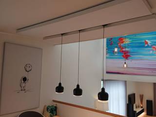 Schallabsorber für Privathaus mit Akustikproblemen Moderne Esszimmer von freiraum Akustik Modern