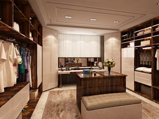 Closet - Projecto 3D para moradia no Estoril Alpha Details Closets modernos
