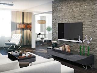 Apartments in the Residential Complex Zarechny Modern living room by ARCHEVISTA DESIGN Modern