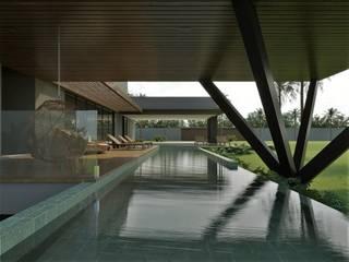 Residência P|M Piscinas modernas por Marcos Baldasso Arquitetura Moderno