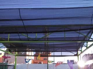estructura con tela sombra Jardines de invierno industriales de Cercas Reacer Industrial
