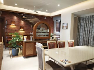 4 BHK Duplex Eclectic style dining room by AR. AISHANI KUMBHANI Eclectic