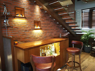 4 BHK Duplex Eclectic style wine cellar by AR. AISHANI KUMBHANI Eclectic