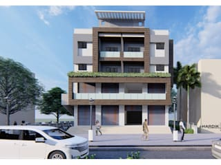COMMERCIAL+RESIDENTIAL APARTMENT by HARDIK PATIL ARCHITECTS Modern