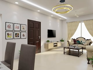 Living Dinning Modern living room by INDREM DESIGNS Modern