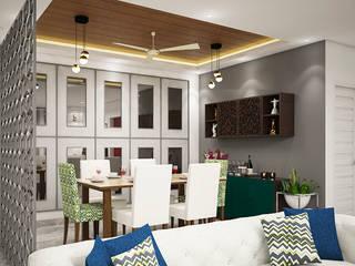 Living Dining Modern living room by INDREM DESIGNS Modern