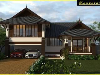 แบบบ้านชั้นเดียวยกพื้น BP27 โดย บริษัทบ้านป่าตาล