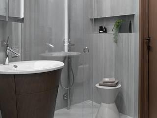Stealth flat Ванная комната в стиле минимализм от iPozdnyakov studio Минимализм Бетон