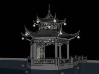 Templo Hua Black Room Lab Jardines zen