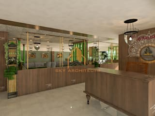 interior designing:  Commercial Spaces by Sky architects,Asian