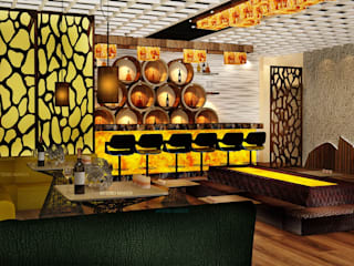 Interior Asian style bars & clubs by INTERIO MAKER Asian
