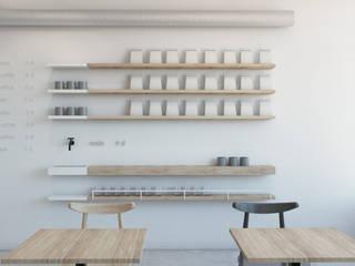 Espaços gastronômicos minimalistas por TIKA DESIGN Minimalista