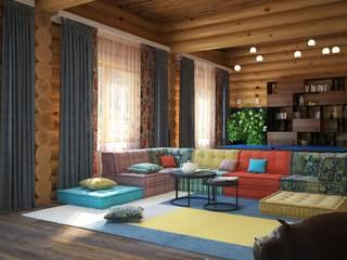 Living room by Anastasia Yakovleva design studio, Modern