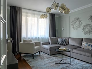 Modern living room by Anastasia Yakovleva design studio Modern