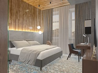 Bedroom by Anastasia Yakovleva design studio, Minimalist