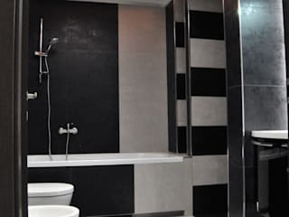 ArchitetturaTerapia® Modern bathroom Tiles Black