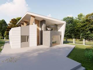 estudioAMA Single family home Wood Wood effect