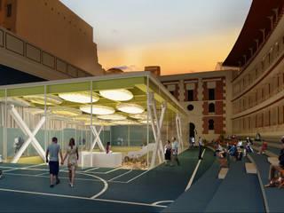 Infografías o Renders Exteriores para concursos de Arquitectura. : Salones de eventos de estilo  de S-AART, Moderno