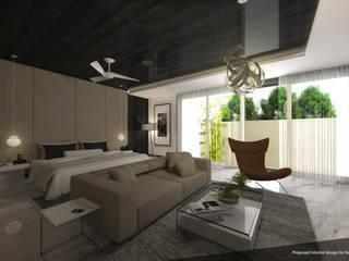 RH18 Modern style bedroom by D A STUDIOS Modern