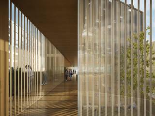 Infografías o Renders Interiores para Arquitectura o Diseño Escuelas de estilo moderno de S-AART Moderno