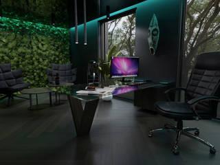 Malezoo Nowoczesne domowe biuro i gabinet od MOONFIELD STUDIO Nowoczesny