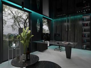 Malezoo Minimalistyczne domowe biuro i gabinet od MOONFIELD STUDIO Minimalistyczny
