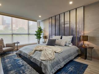 Dormitorios de estilo ecléctico de CAJA BLANCA Ecléctico