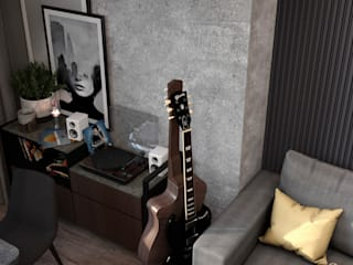 Трехкомнатная квартира в ЖК «Art Plaza» Гостиная в стиле минимализм от Бюро дизайна и архитектуры 'Фриз' Минимализм