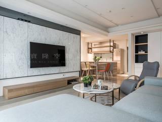 SING萬寶隆空間設計 Ruang Keluarga Gaya Skandinavia