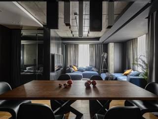 "JETSMAN Двухкомнатная квартира ЖК ""JET Apartments"" Гостиная в стиле лофт от АРТ УГОЛ Студия архитектуры и дизайна Лофт"