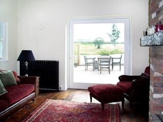 Extension, New Forge, Belfast BT9 Rustic style living room by Jim Morrison Architects Rustic