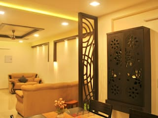 Traditional Themed Home Interiors :  Living room by Alankar Interiors and Beyond, Asian