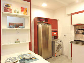 Célia Orlandi por Ato em Arte Small kitchens Red