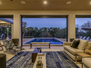 Casa MLE - Austin Célia Orlandi por Ato em Arte Salas de estar modernas