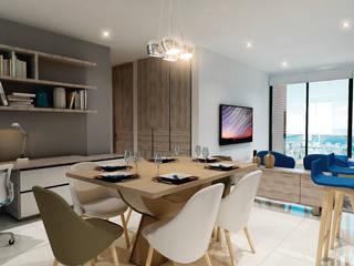 Edificio Vivienda multifamiliar Comedores de estilo moderno de Velasco Arquitectura Moderno