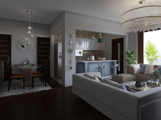 Home Staging Virtual - Venta de Apartamento sobre Planos..... Salas modernas de Arkiline Arquitectura Optativa Moderno