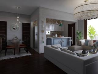 现代客厅設計點子、靈感 & 圖片 根據 Arkiline Arquitectura Optativa 現代風