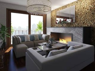 Salas / recibidores de estilo  por Arkiline Arquitectura Optativa, Moderno