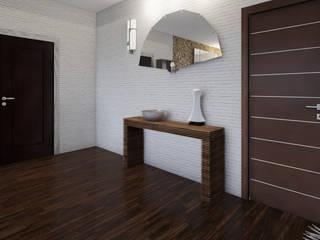 Home Staging Virtual - Venta de Apartamento sobre Planos..... Pasillos, vestíbulos y escaleras de estilo moderno de Arkiline Arquitectura Optativa Moderno