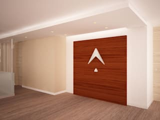 Remodelaci´ón oficina de consultoría Pasillos, vestíbulos y escaleras de estilo moderno de Velasco Arquitectura Moderno