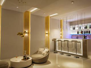 Electronic City Villa Modern Home Wine Cellar by De Panache - Interior Architects Modern