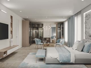 Amritsar Villa Modern Bedroom by De Panache - Interior Architects Modern